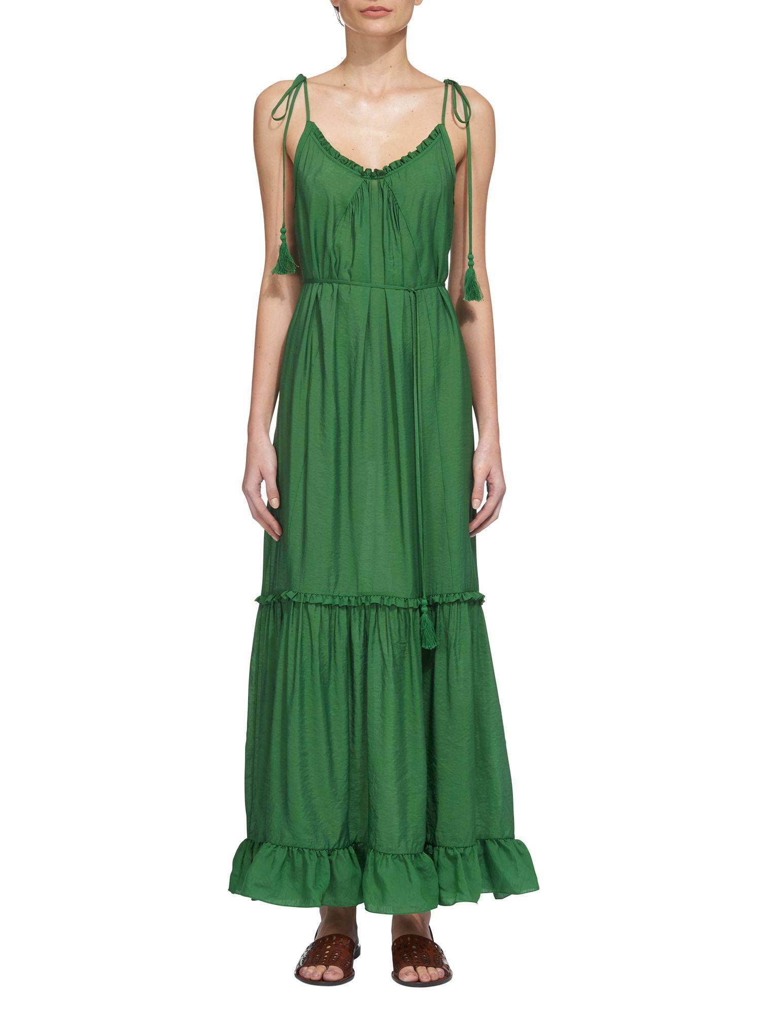 Whistles green maxi dress