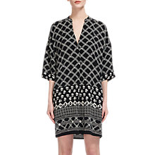 Buy Whistles Luna Crosshatch Print Dress, Black/White Online at johnlewis.com
