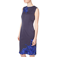 Buy Precis Petite Embroidered Shift Dress, Navy Online at johnlewis.com
