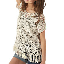 Buy Fat Face Cate Crochet T-Shirt Online at johnlewis.com