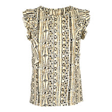 Buy Fat Face Maisy Earth Tribal T-Shirt, Stone Online at johnlewis.com