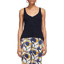 Buy Whistles Pleat Detail Knitted Cami, Navy Online at johnlewis.com
