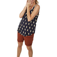 Buy Fat Face Cassie Savanna Geo Cami, Black Online at johnlewis.com