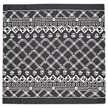 Buy Whistles Crosshatch Print Silk Scarf, Black Online at johnlewis.com