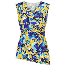 Buy Precis Petite Roma Floral Wrap Blouse, Yellow/Multi Online at johnlewis.com