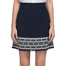 Buy Whistles Selina Embroidered Skirt, Navy Online at johnlewis.com