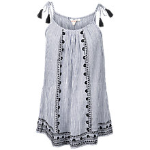 Buy Fat Face Winnie Stripe Cami, Natural Online at johnlewis.com