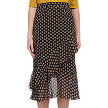 Buy Whistles Nisha Print Tiered Skirt, Black/Multi Online at johnlewis.com