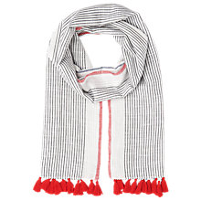 Buy Whistles Tassel Stripe Scarf Online at johnlewis.com