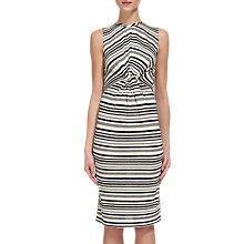 Buy Whistles Carrie Stripe Jersey Dress, Cream/Multi Online at johnlewis.com