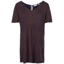 Buy Fat Face Safari Spot Longline Jersey Top, Navy Online at johnlewis.com