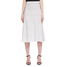 Buy Whistles Gradual Stripe Knit Skirt, Ivory Online at johnlewis.com
