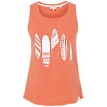 Buy Fat Face Surfboards Print Vest, Tangerine Online at johnlewis.com