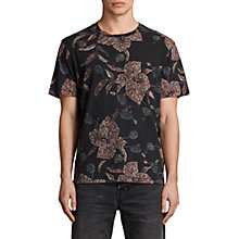 Buy AllSaints Kauai Short Sleeve T-Shirt, Vintage Black Online at johnlewis.com
