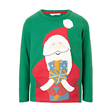 Buy John Lewis Boys' Santa Gift T-Shirt, Green Online at johnlewis.com