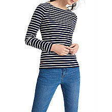 Buy Joules Harbour Stripe Long Sleeve Jersey Top Online at johnlewis.com