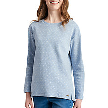 Buy Joules Clemence Stripe Sweatshirt, Indigo Spot Online at johnlewis.com