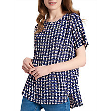 Buy Joules Hannah Top, Navy Blue Weave Online at johnlewis.com