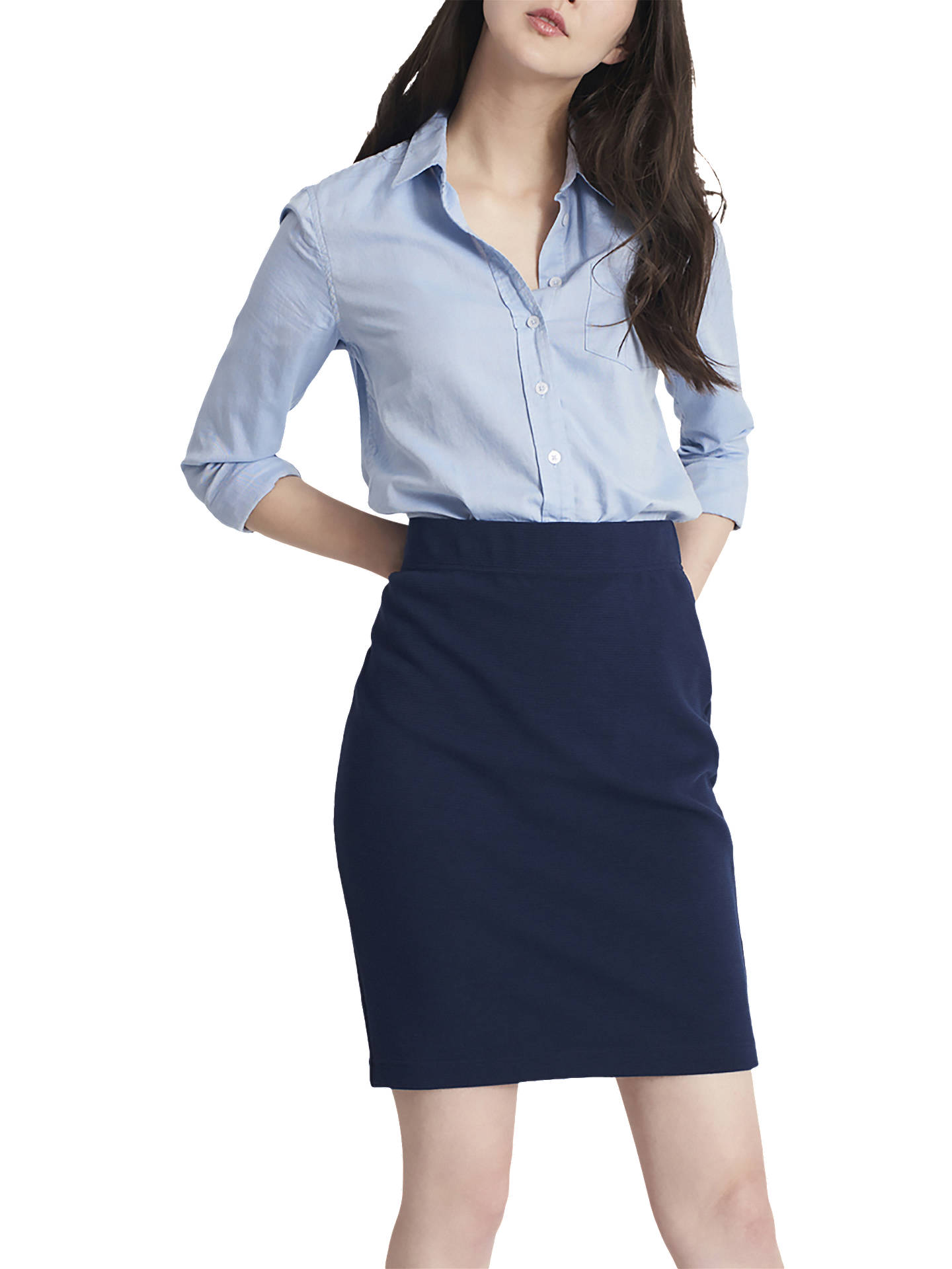 e7b007e276 Buy Joules Penelope Jersey Pencil Skirt, French Navy, 12 Online at  johnlewis.com ...