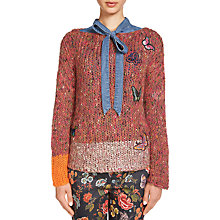 Buy Oui Textured Butterfly Jumper, Violet Rose Red Online at johnlewis.com