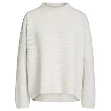 Buy Oui Ribbed Eyelet Jumper, Off White Melange Online at johnlewis.com