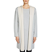 Buy Oui Hooded Coatigan, Light Grey Online at johnlewis.com