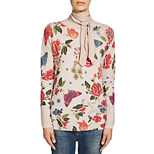 Buy Oui Printed Butterfly Jumper, Rose/Green Online at johnlewis.com