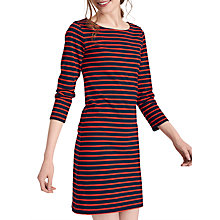 Buy Joules Riviera 3/4 Sleeve Jersey Dress, Navy Red Stripe Online at johnlewis.com