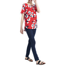 Buy Joules Hannah Top, Red Posy Online at johnlewis.com