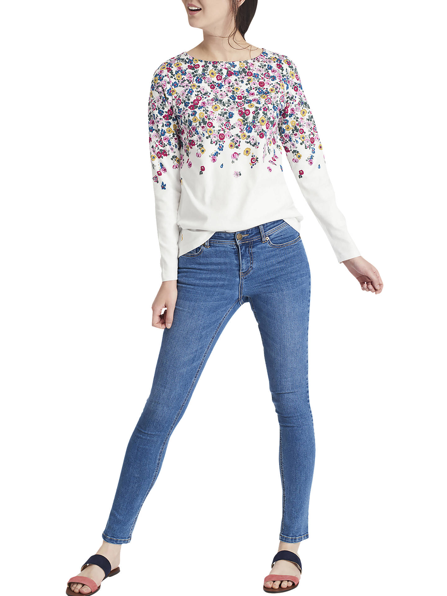 Joules Womens Monroe Stretchy Casual Classic Skinny Jeans