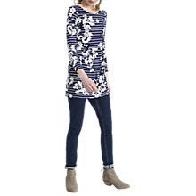 Buy Joules Kirsten Jersey Tunic Dress, French Navy Posy Stripe Online at johnlewis.com