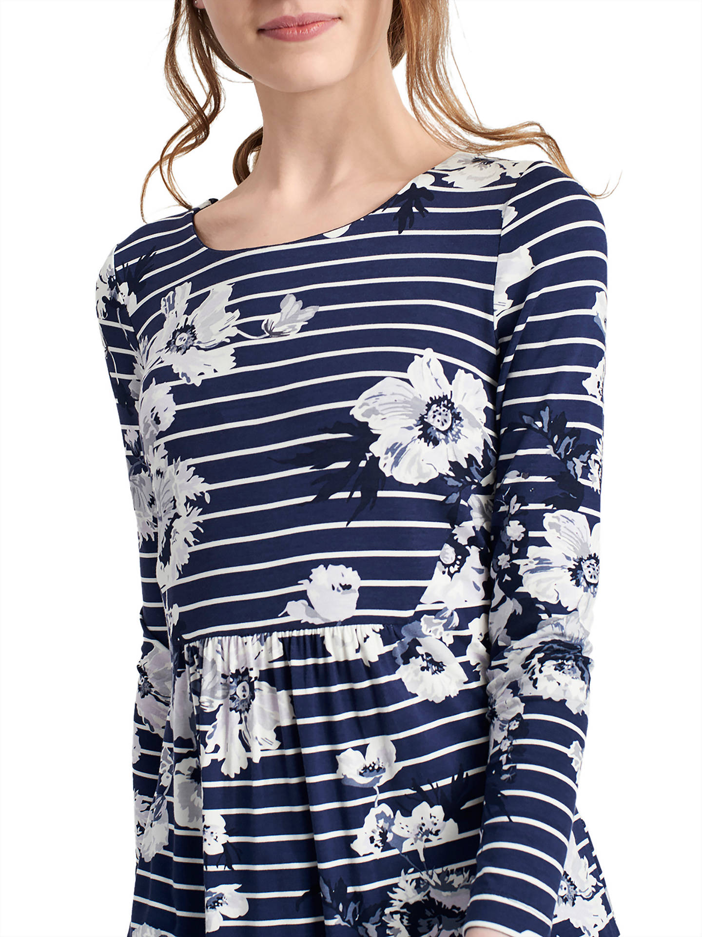 597c13a3c2e ... Buy Joules Kirsten Jersey Tunic Dress, French Navy Posy Stripe, 8  Online at johnlewis ...