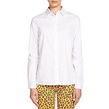 Buy Oui Longline Shirt, Bright White Online at johnlewis.com