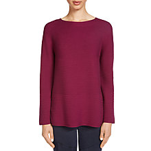 Buy Oui Ribbed Knit Jumper, Plum Caspia Online at johnlewis.com
