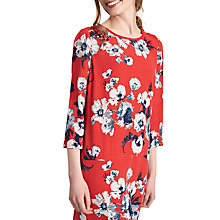 Buy Joules Ambion Shift Dress, Red Posy Online at johnlewis.com