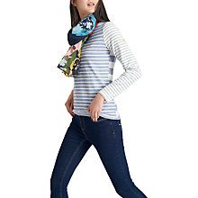 Buy Joules Harbour Stripe Long Sleeve Jersey Top, Blue Stripe Online at johnlewis.com