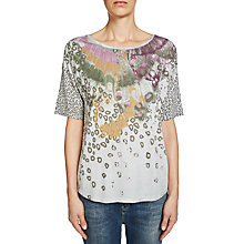 Buy Oui Printed T-Shirt, Paloma Online at johnlewis.com
