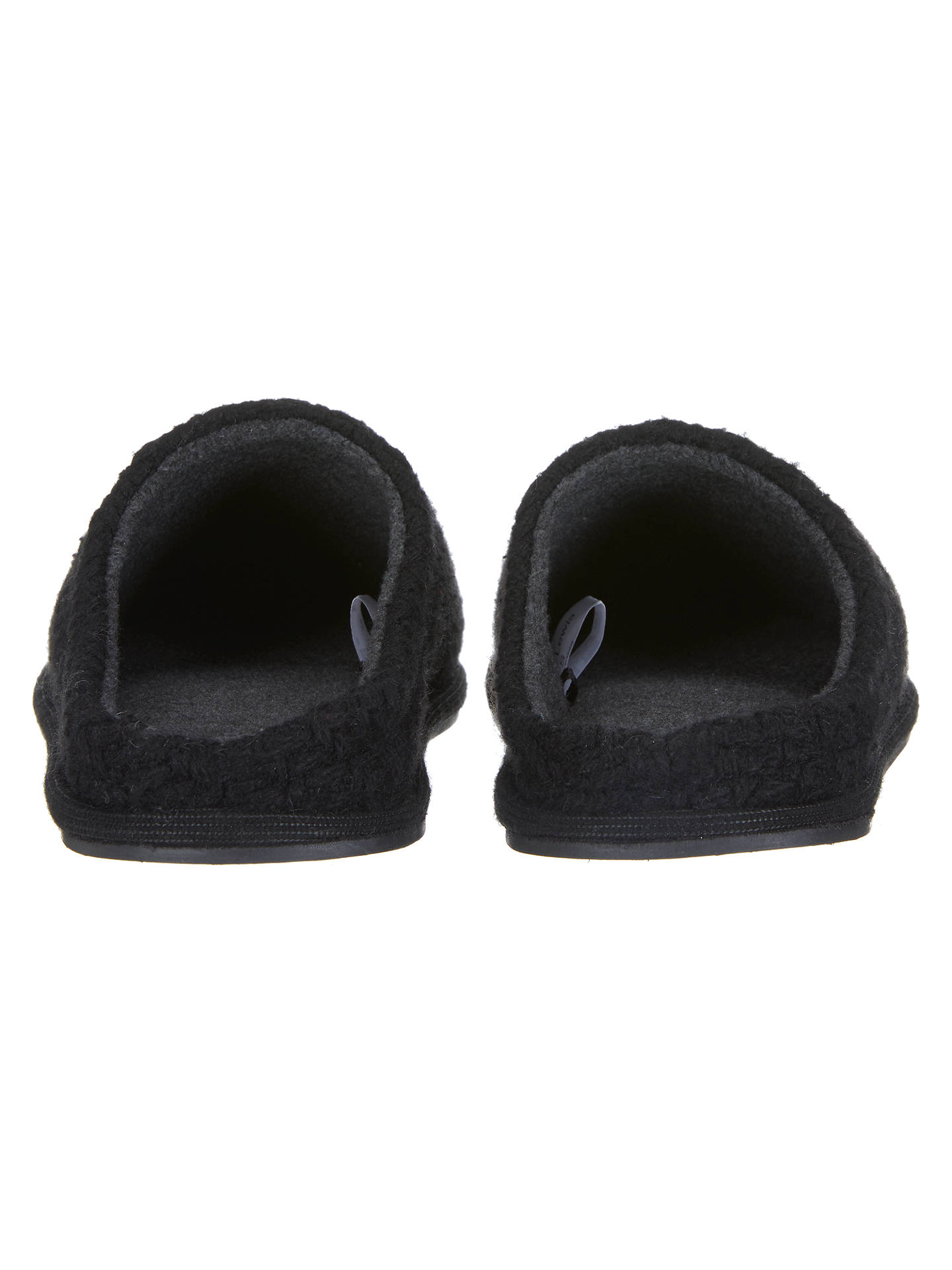 BuyJohn Lewis & Partners Basketweave Mule Slippers, Black, S Online at johnlewis.com