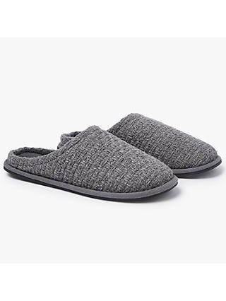 John Lewis & Partners Basketweave Mule Slippers