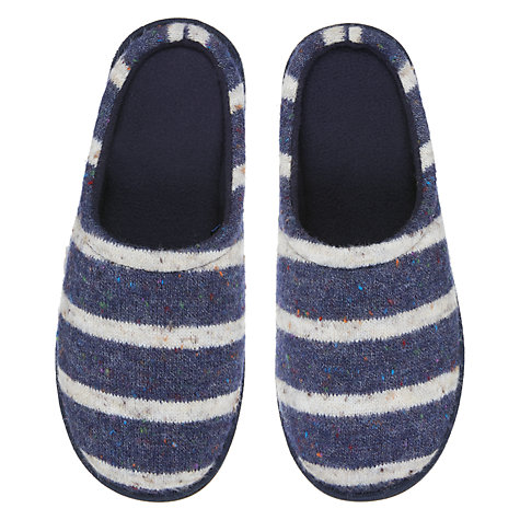 Buy John Lewis Fleck Stripe Mule Slippers Online at johnlewis.com