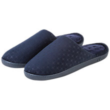 Buy Totes Pillowstep Cotton-Poly Slippers, Navy Online at johnlewis.com