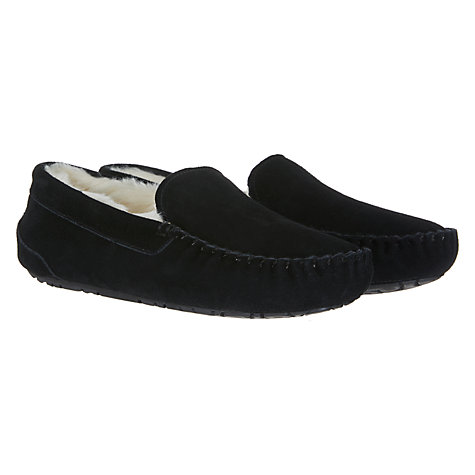 Buy John Lewis Moccasin Faux Fur Lined Slippers Online at johnlewis.com