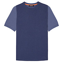 Buy Jaeger Fabric Block T-Shirt, Navy Online at johnlewis.com