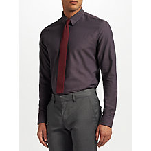 Buy J.Lindeberg Dobby Slim Fit Shirt, Dark Grey Online at johnlewis.com