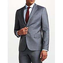Buy J.Lindeberg Wool Slim Fit Suit Jacket, Dusty Blue Online at johnlewis.com