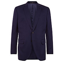 Buy Jaeger Mercerised Cotton Regular Fit Suit Jacket, Navy Online at johnlewis.com