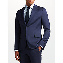Buy J.Lindeberg Fancy Wool Slim Fit Suit Jacket, Blue Online at johnlewis.com