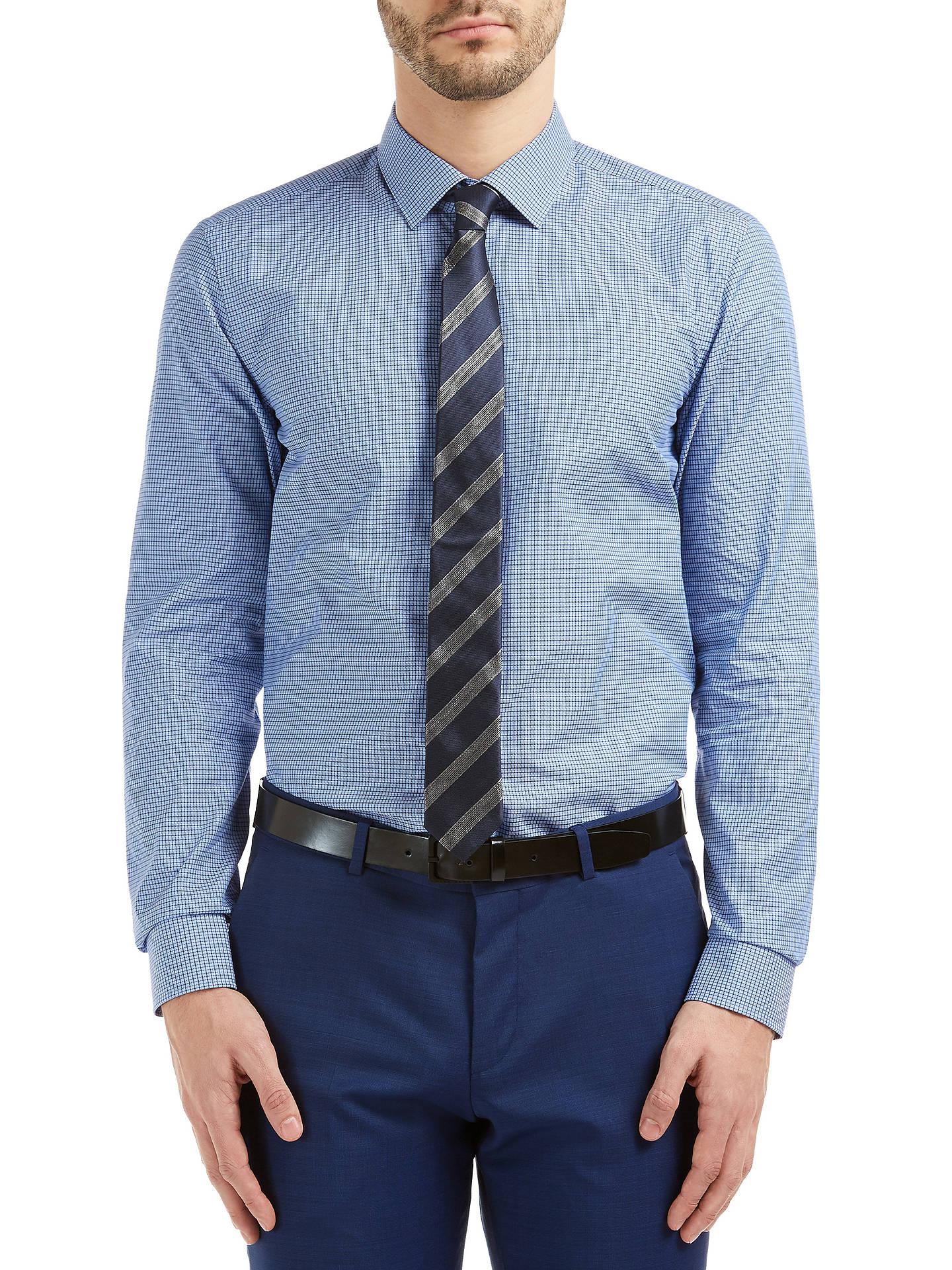 e037188f9 HUGO by Hugo Boss C-Jenno Slim Fit Shirt, Navy at John Lewis & Partners