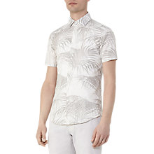 Buy Reiss McCawley Palm Print Short Sleeve Shirt Online at johnlewis.com