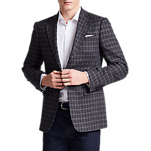 Buy Thomas Pink Bolan Cotton Silk Check Blazer, Charcoal Online at johnlewis.com